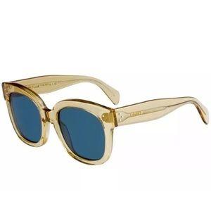 eb396fbec9c9 Celine Accessories - Celine CL41805 S XKG 9A AUDREY Champagne Blue lens